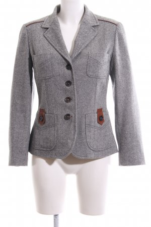Bogner Wolljacke hellgrau meliert Business-Look