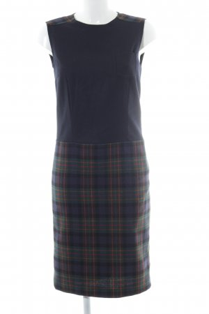 Bogner Wollen jurk geruite print klassieke stijl