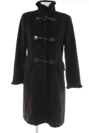 Bogner Wollen jas donkerbruin casual uitstraling
