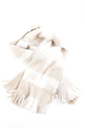 Bogner Bufanda de lana blanco-crema estampado a rayas look Street-Style
