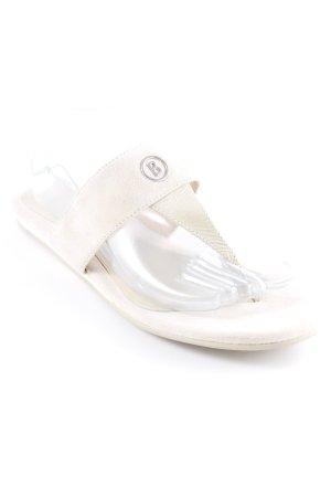 Bogner Sandalo toe-post beige chiaro stile casual