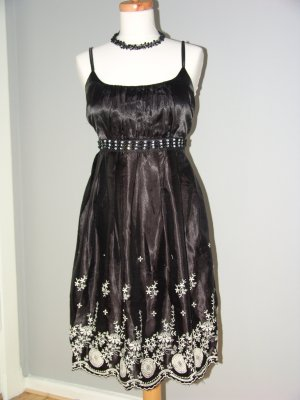 °°°Boheme Abendkleid,Prom dress, HANDMADE,LONDON,L,SATIN°°°