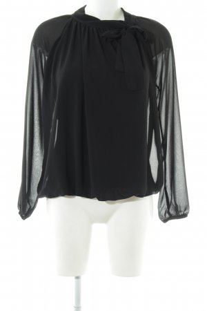 Bohéme Tie-neck Blouse black business style