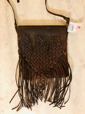 Fringed Bag bordeaux leather