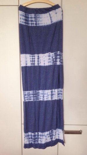 Bohemian Maxi Rock Streifen mit Schlitz cut out Batik eng Stretch