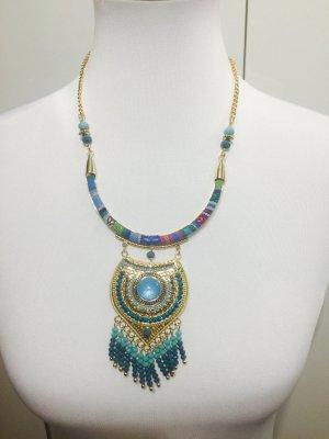 Bohemian- Stiel Kette mit Perlen