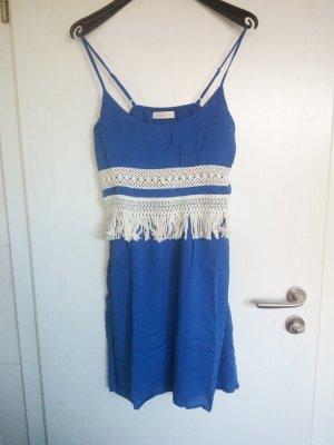 Boho Bohemian Fransen Spitzen Kleid von EntroUSA Gr.34/36