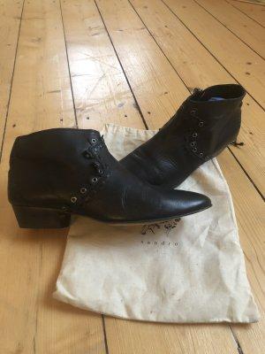 Sandro Desert Boots black leather