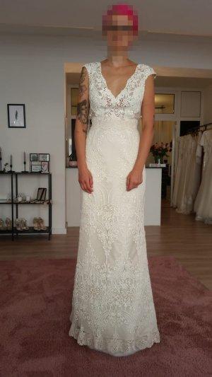 Abito da sposa bianco sporco-bianco Fibra tessile