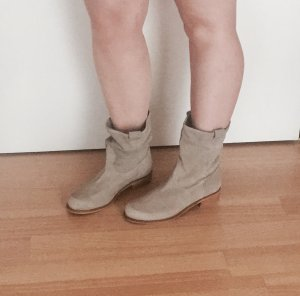 Low boot gris clair