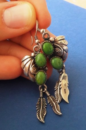 Silver Earrings multicolored real silver