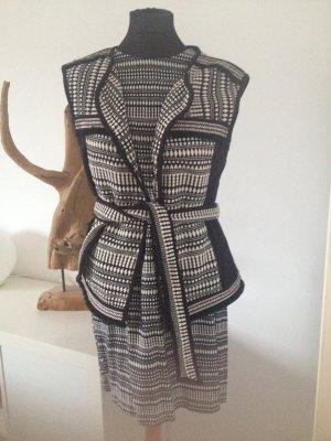 H&M Smanicato lavorato a maglia bianco-nero Cotone