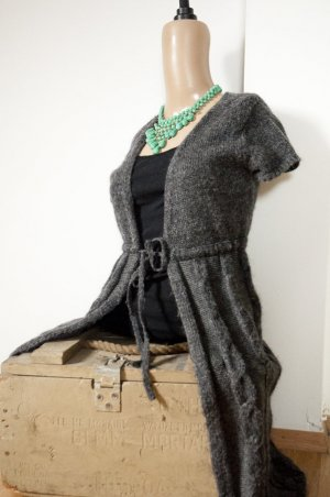 Boho Hallhuber Überwurf / Cardigan in XS mit Wolle