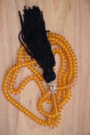 Collier orange clair-noir