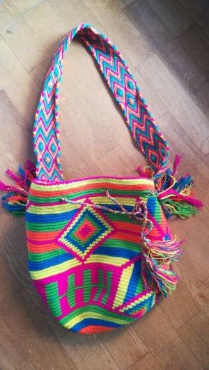 Boho Hippie Beuteltasche bunt handmade wayuu mochila