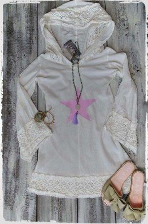 Robe Hippie blanc-rosé coton