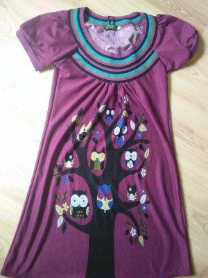 Robe tunique multicolore tissu mixte