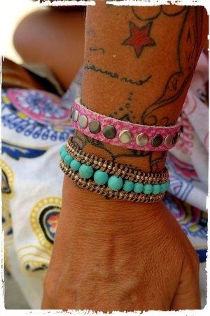 Boho Hippie Sommer Leder armband nieten