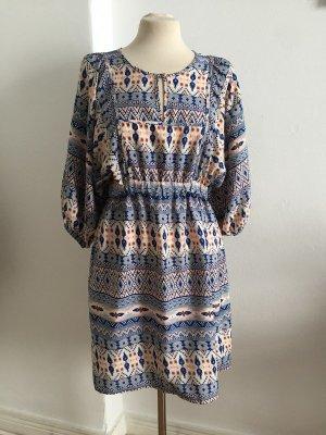 Boho Hippie Sommerkleid Midikleid mit Muster