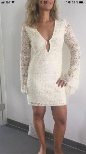 H&M Vestido Hippie crema