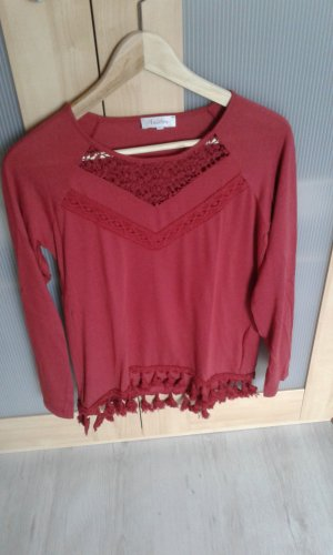 Aniston Tunic Blouse brick red