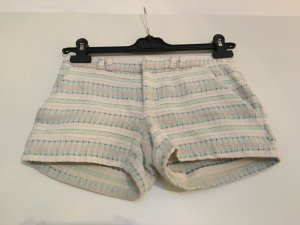 Boho Hotpants weiß gestreift und bestickt von Promod, Größe 32