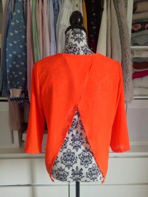 Asos Blouse Top orange-neon orange