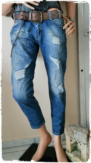 Boho Jeans Riss und Klekse passt M-L