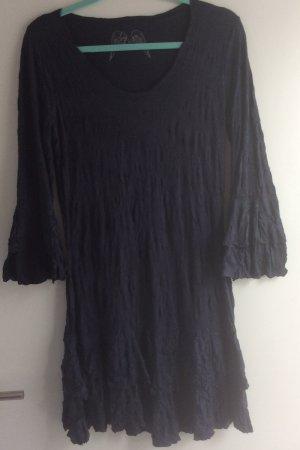 Boho-Kleid dunkelblau Gr.40