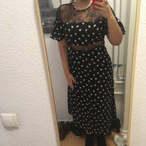 Fashion Union Cut out jurk zwart Viscose
