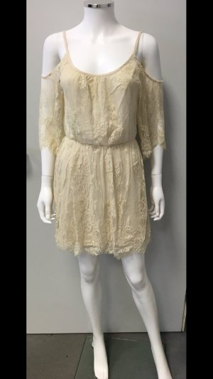 Abercrombie & Fitch Vestido cut out crema-blanco puro