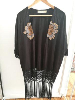 boho look kimono mit Fransen