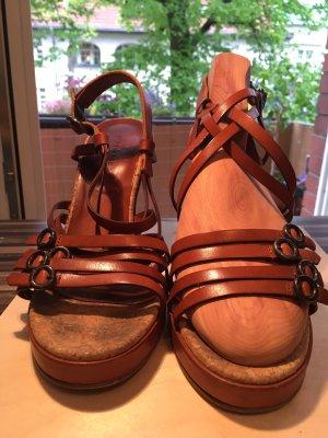 Boho Look: Strenesse Riemchen Sandalette mit Keil Gr. 39