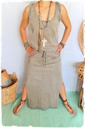Boho Maxi Kleid mit Fransen passt S bis M