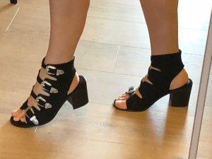 High Heel Sandal black imitation leather
