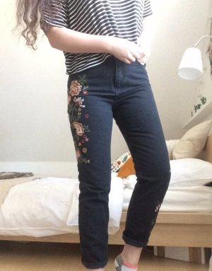 Boho Mom Jeans schwarz