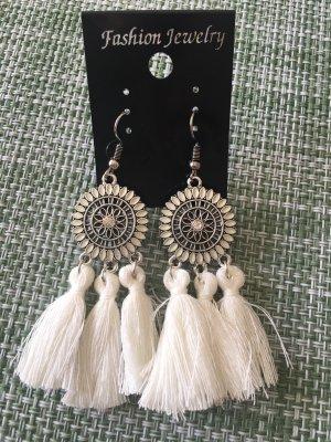 Boho-Ohrringe mit Quasten