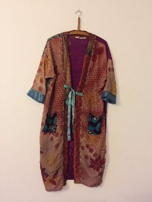 Kimono bleu violet-magenta