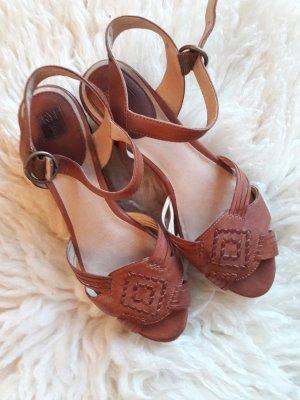 Frye Plateauzool sandalen veelkleurig Leer