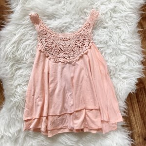 Frill Top pink-nude