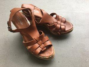 Boho-Sandaletten aus Leder