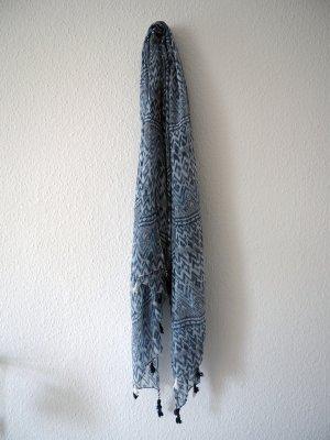 Boho Schal/Tuch mit Muster und Quasten