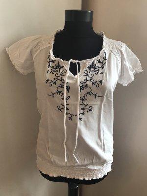 Tchibo / TCM T-Shirt white-blue
