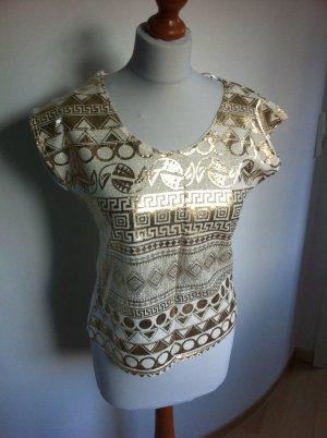 Camisa crema-color oro