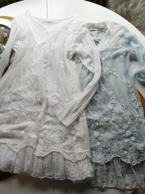 Casacca bianco-blu pallido