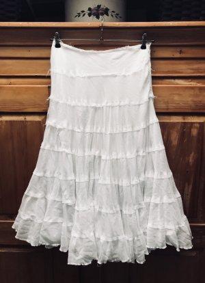 BOHO! Skirt! White!