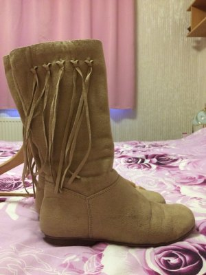 3 Suisses High Boots beige imitation leather