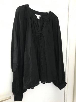 H&M Blouse oversized noir coton