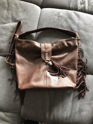 Pimkie Fringed Bag brown imitation leather