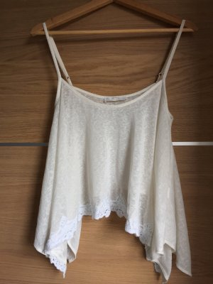 Bershka Spaghetti Strap Top white-natural white